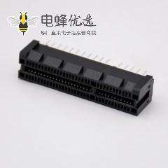 PCIE连接器焊接64芯4X导柱式显卡插槽插板式