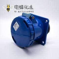暗装直座工业插座3芯母头63A 220V-240V IP67防水 2P+E