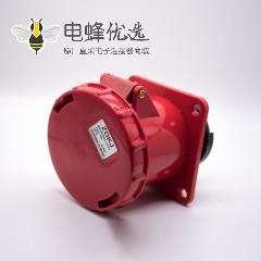 三相暗装插座4芯63A工业母头 380V-415V IP67 3P+E