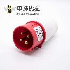 工业三相插头3P+E 4芯公头16A 380V-415V IP44