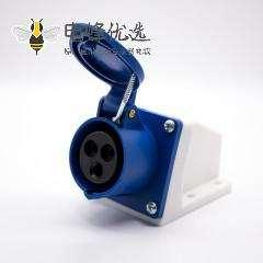 明装插座盒3芯母头IP44防水16A 220V-240V 2P+E