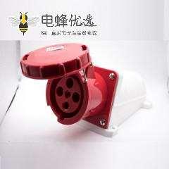 三相工业明装插座3P+E防水IP67 63A 380V-415V 4芯母头