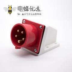 明装插座16A 5芯公头器具插座IP44 380V-415V 3P+N+E