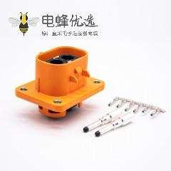 高压互锁连接器2芯直式50A塑胶接线插座