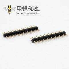 排针连接器公座直式180度单排16针插板间距1.1MM