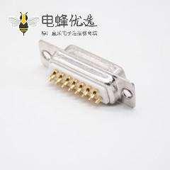 直插式180°DB15母头2排焊杯白色胶芯标准型冲针