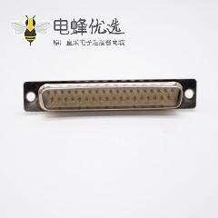 37针D-sub连接器2排冲针焊杯式180度公头