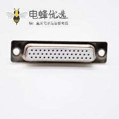 DB连接器180度标准型母头3排44芯冲针焊杯DB接口
