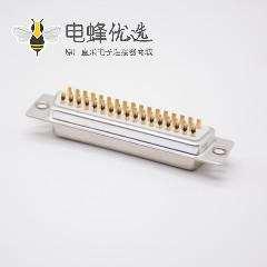 DB母头焊线式直式标准型白色胶芯3排50芯冲针
