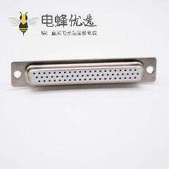 DB62连接器母头白色胶芯62芯冲针直式焊杯式连接器