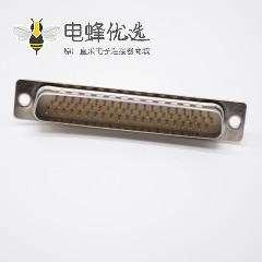 62 Pin D-sub连接器直式公头冲针3排焊杯式DB头