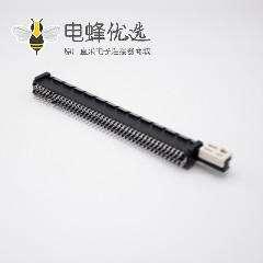 PCIE连接器164芯黑色注塑插板式记忆卡槽