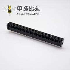 PCIE板端连接器164芯夹板式插槽PCI-e 16X电脑显卡连接器
