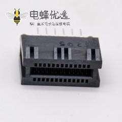PCIE插槽背板连接器26芯插板式记忆卡槽连接器