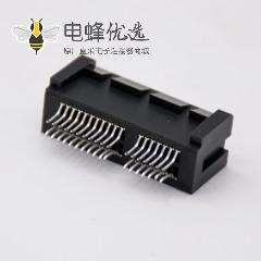 PCIE 1X连接器36Pin夹板式记忆卡槽显卡连接器