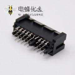 PCIE板边连接器36芯1X导柱式插槽四排针插板连接器
