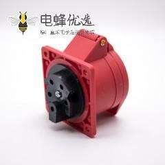 暗装五孔插座红色母头16A 380V-415V IP44防水3P+N+E