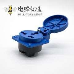 暗装直式工业插座10A3孔母头2P+E 220V-240V IP54