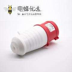 四芯工业插头防水IP44公头32A 380V-415V三相3P+E