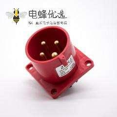 暗装防水插座32A 380V-415V防水IP44 3P+E三相4芯公头