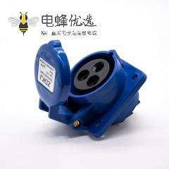 单相插座暗装16A 220V-240V IP44 2P+E 3芯母头斜座