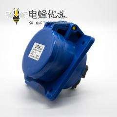工业暗装插座3芯斜座2P+E母头32A 220V-240V IP44防水