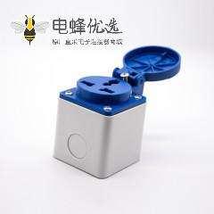 工业连接器明装插座3芯母头10A 220V-240V IP54防水 2P+E