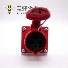 明装防水插座IP44三相3P+E 4芯母头16A 380V-415V