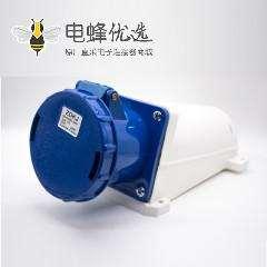 工业明装插座3芯IP67防水母头63A 220V-240V 2P+E