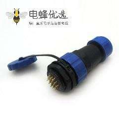航空SP29连接器19芯直插头+后螺母插座