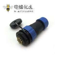 SP29航空连接器24芯直插头+后螺母插座