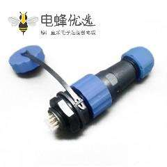 SP17系列9芯公插头+母圆螺母插座一对后锁板安装