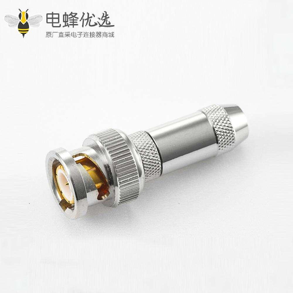 接线SYV75-3直式公头BNC连接器焊接