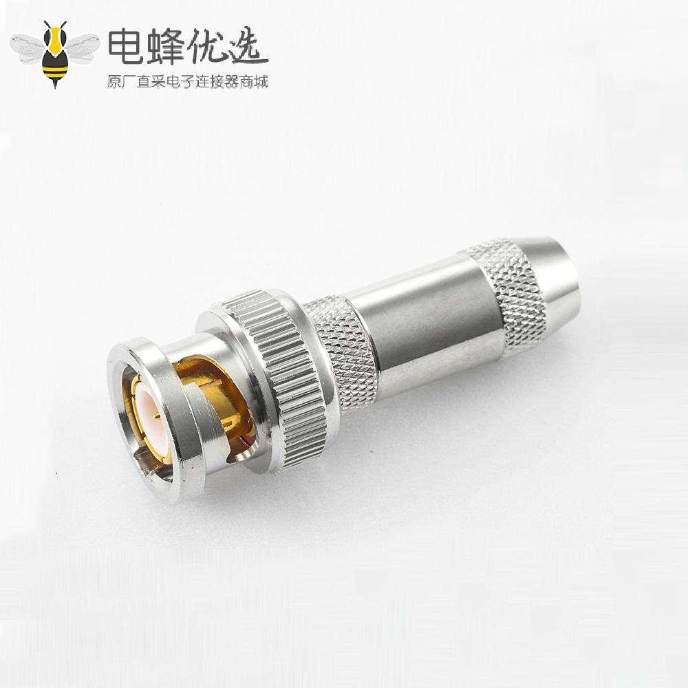 焊接接线RG179/SYV75-1.5BNC公头直式连接器
