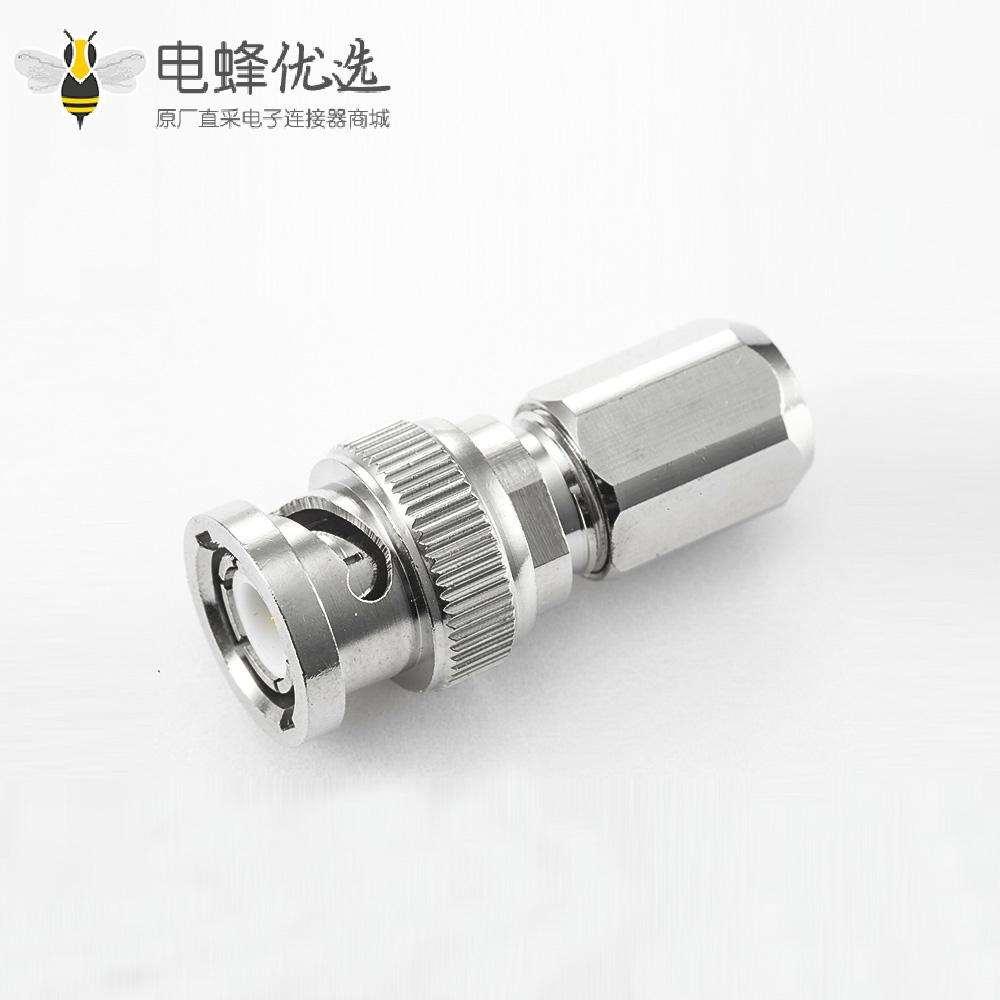 BNCRG58/RG142接线焊接连接器公180度