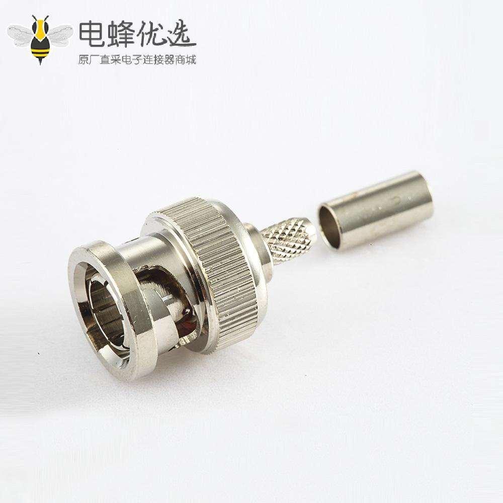 BNCSYV75-2接线压接连接器公头180度