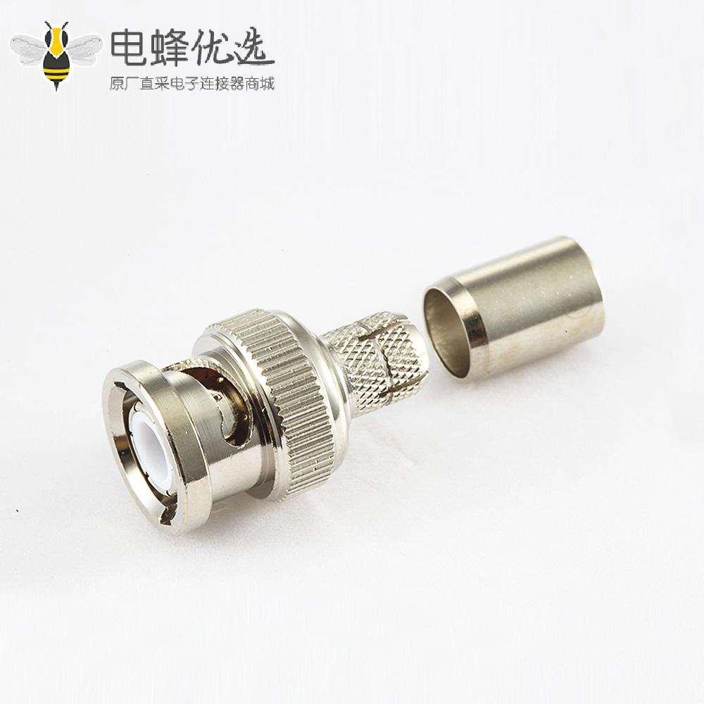 压接SYV50-5接线BNC连接器公头