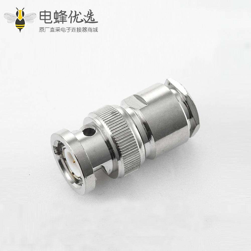 SYV50-5接线BNC连接器公头直式螺母锁紧型