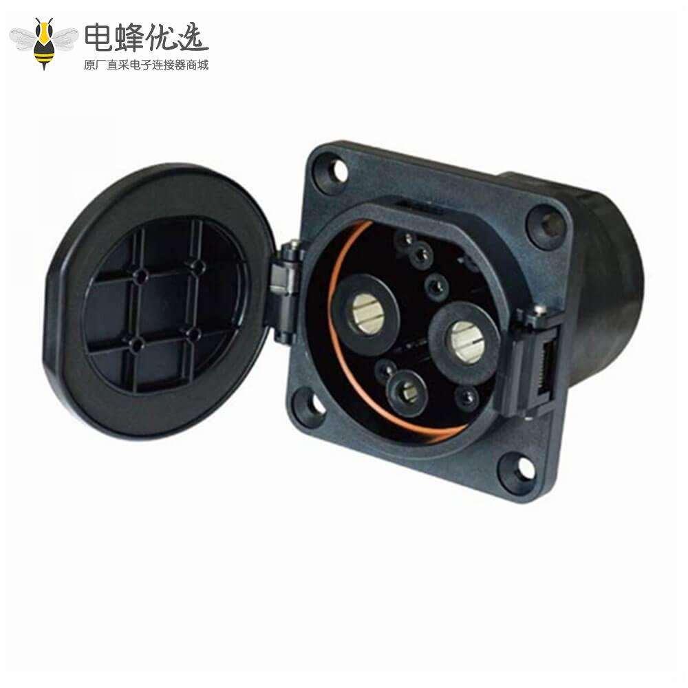 国标插座电动车充电插座直流快充插座车辆端NV2-DSD-G-EV125S
