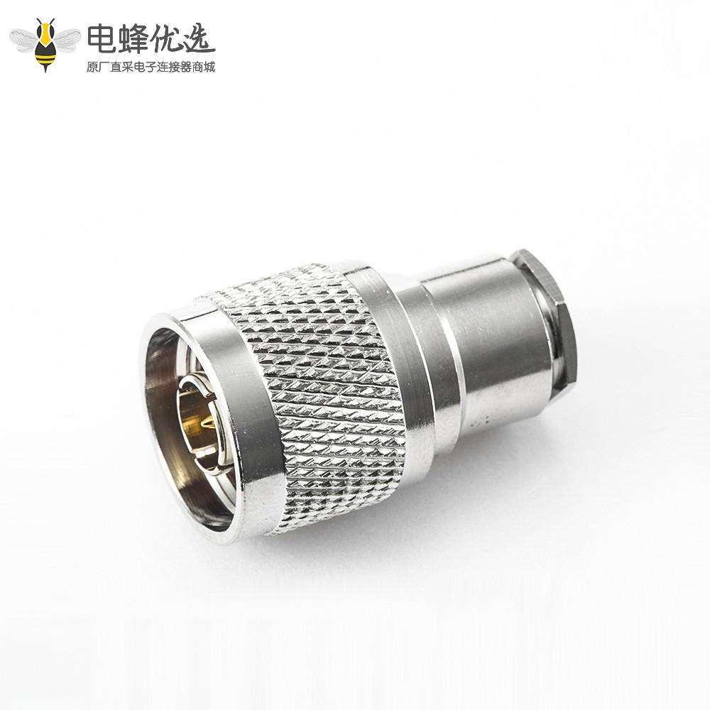 N型短式连接器公头直式螺母锁紧SYV50-5