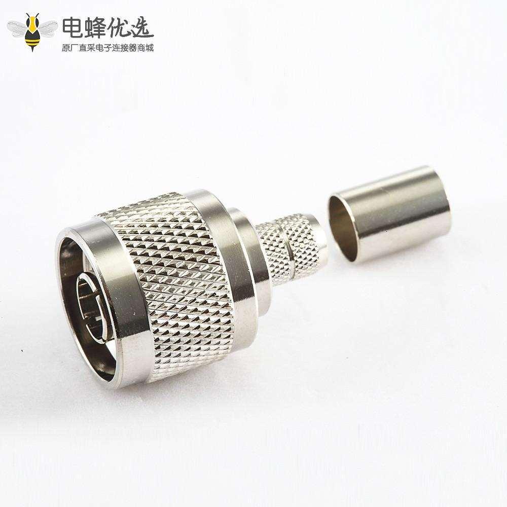 公头N型连接器直式压接5D-FB LMR300