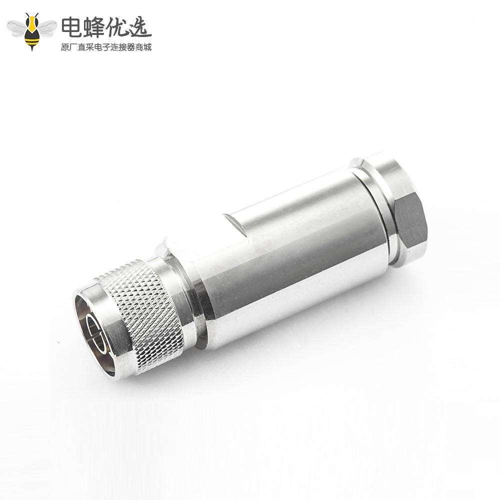 N型连接器直型公头螺母锁紧1/2电缆
