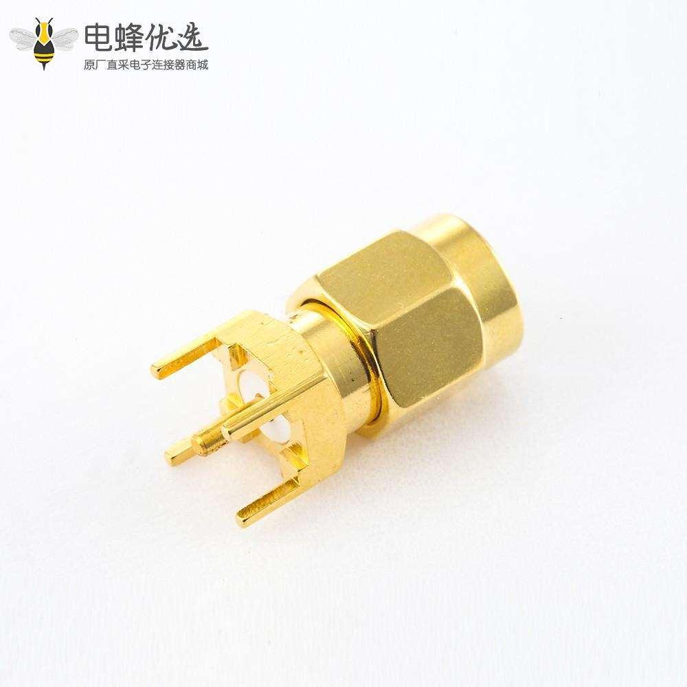 SMA PCB安装连接器公头直式插孔