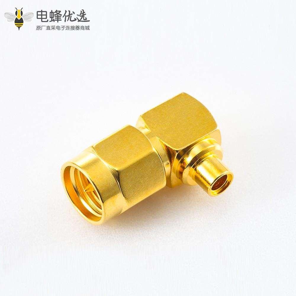 焊接类型连接器SMA接线半柔/半刚性-2公头弯式