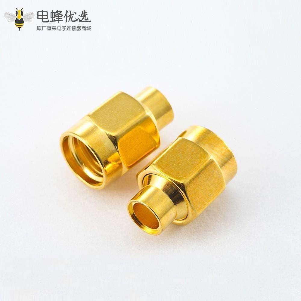 焊接型SMA接线连接器公头用于半柔/半刚性-3电缆