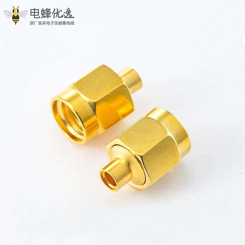 半柔/半刚性-2 焊接SMA接线连接器公头直式