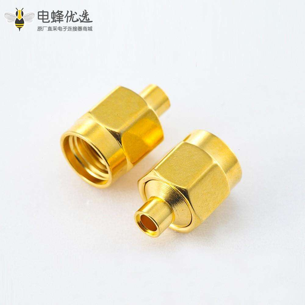 SMA接线连接器半柔/半刚性-2公头直式焊接类型