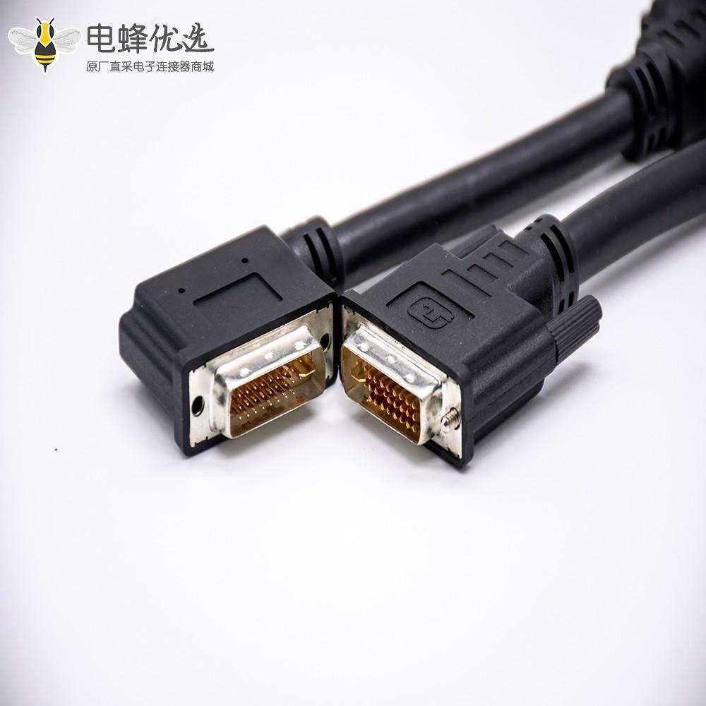 DP20针转接DVI 24 + 1针直式组装电缆1米