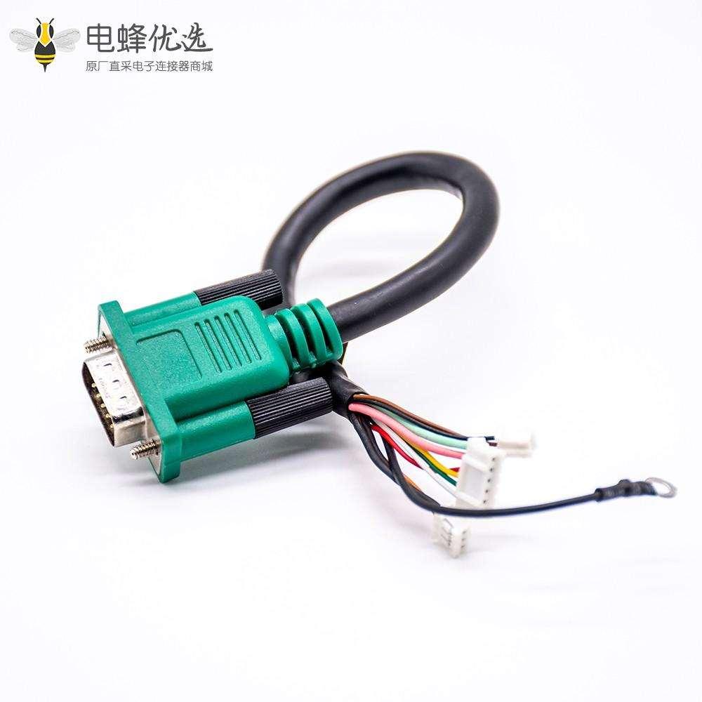 DB15pin公头转接三个接线盒电缆线长0.2米