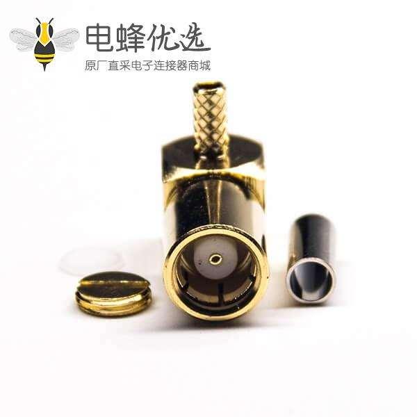 压接式SMB连接器90度公头压接接线
